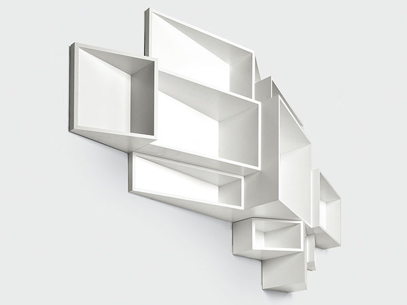Wall-mounted MDF bookcase SheLLf by Kristalia