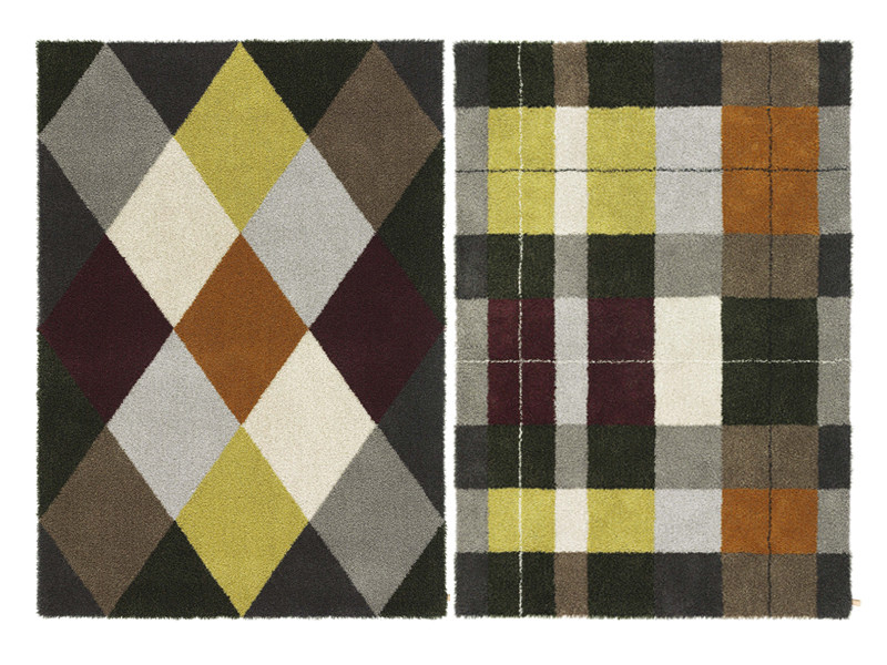 Handmade rug with geometric shapes ARGYLE & TARTAN by Kasthall