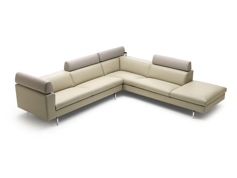 Corner sectional leather sofa HORATIO by LEOLUX