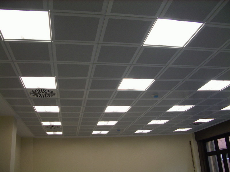 Acoustic mineral fibre ceiling tiles METAL MODULAR SOUND by atena