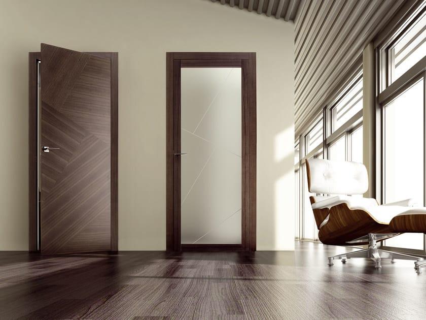 Hinged wooden door RIO CANALETTO   Hinged door by Ghizzi & Benatti