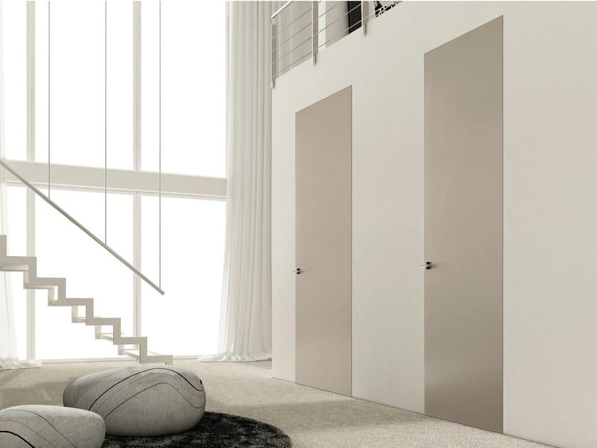 Flush-fitting lacquered door RIO ZERO by Ghizzi & Benatti