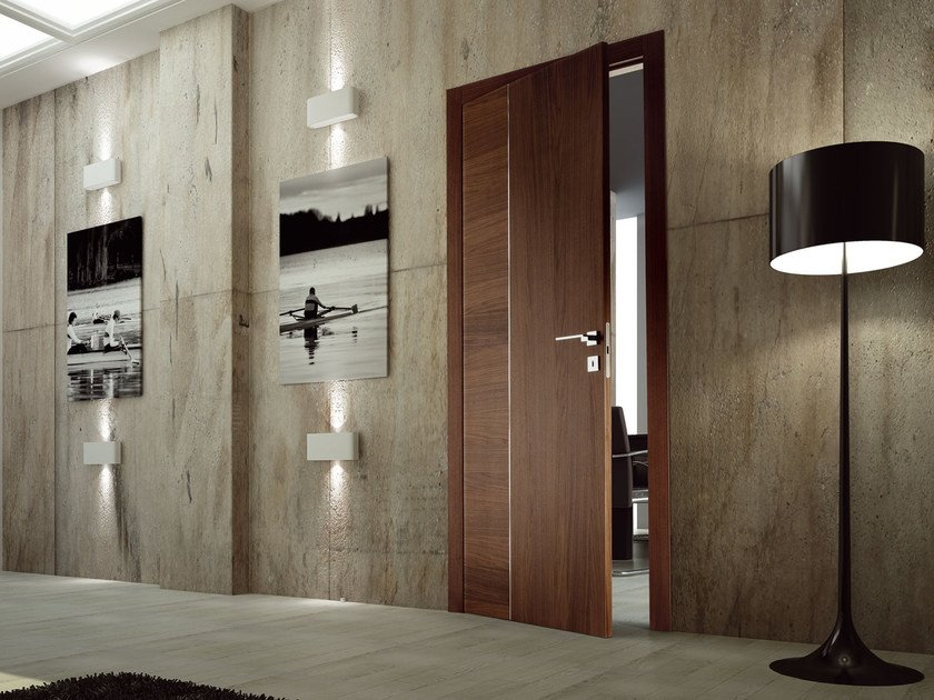 Hinged wooden door SKY by Ghizzi & Benatti