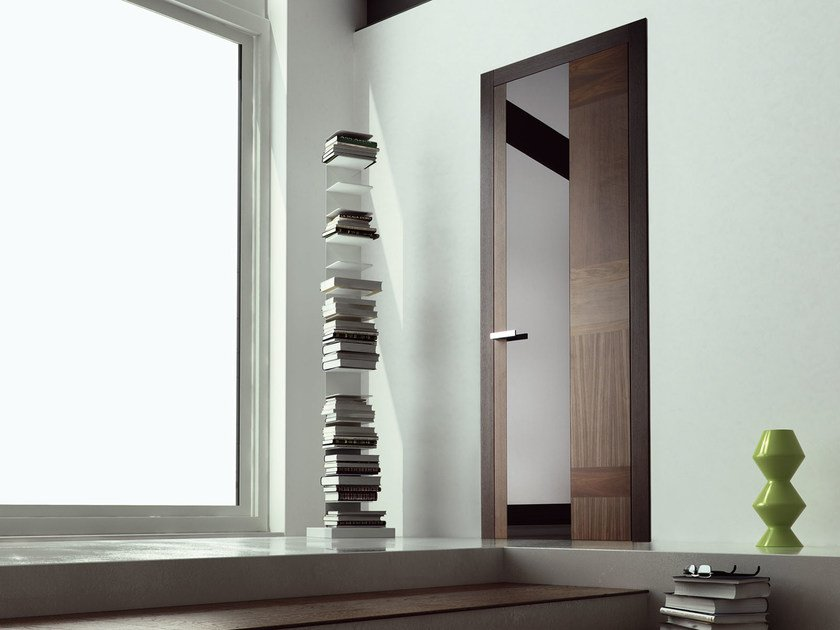 Hinged wooden door STONE PLUS by Ghizzi & Benatti