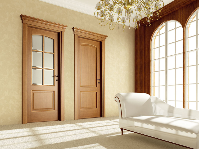 Hinged wooden door ATHENA by Ghizzi & Benatti