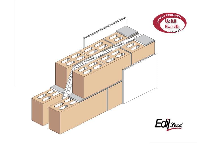Sound insulating concrete masonry block Bioclima fonoisolante doppiaparete by Edil Leca Murature