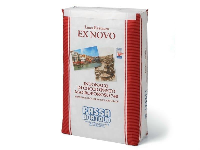 Dehumidifying plaster INTONACO DI COCCIOPESTO MACROPOROSO 740 by FASSA
