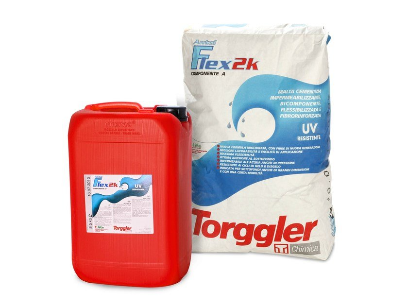 Cement-based waterproofing product ANTOL FLEX 2K by Torggler Chimica