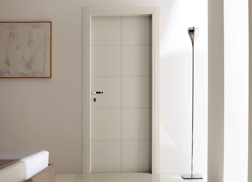 Hinged wooden door TEKNA 10 by Ghizzi & Benatti