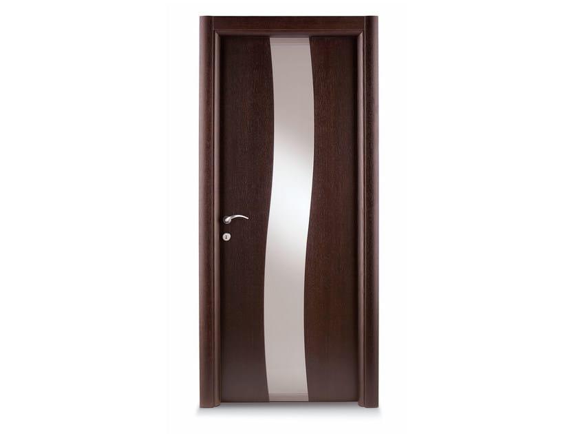 Hinged wooden door RIVER by Ghizzi & Benatti