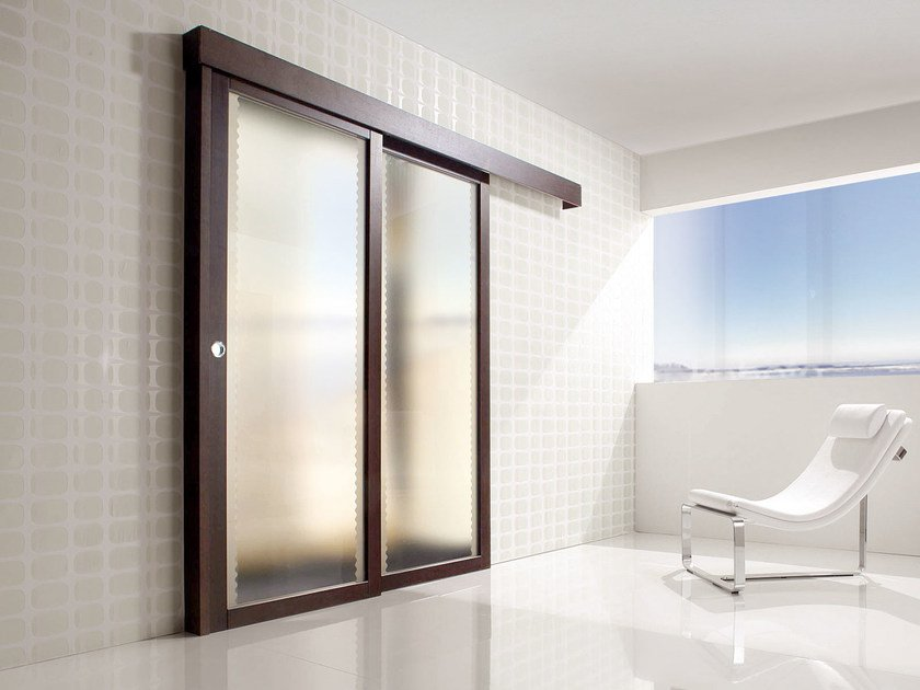 Glass sliding door SPAZIO | Sliding door by Ghizzi & Benatti
