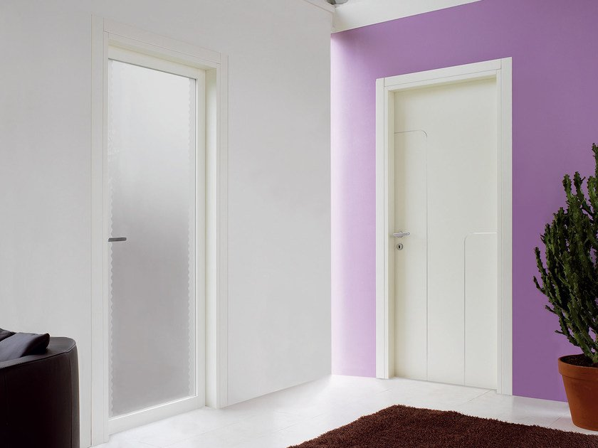 Hinged wooden door SPRING by Ghizzi & Benatti