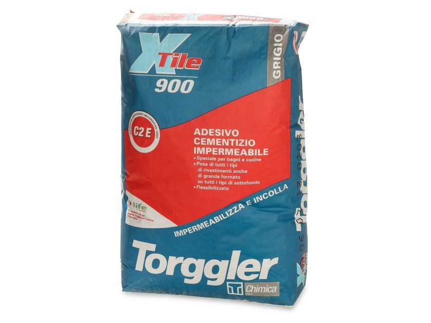 Cement adhesive for flooring X-TILE 900 by Torggler Chimica