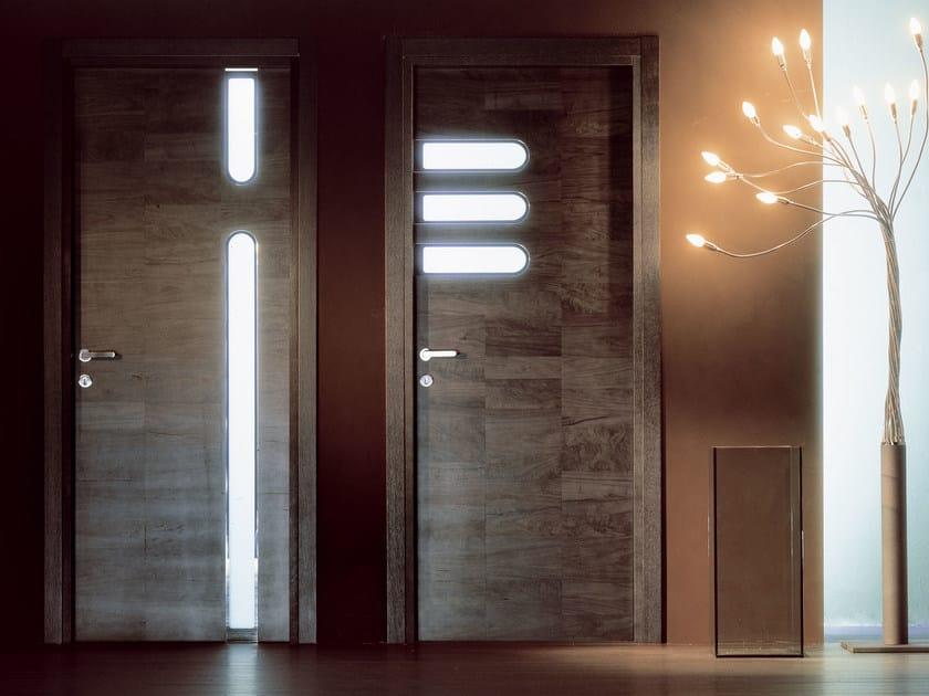 Hinged wooden door TRACK by Ghizzi & Benatti