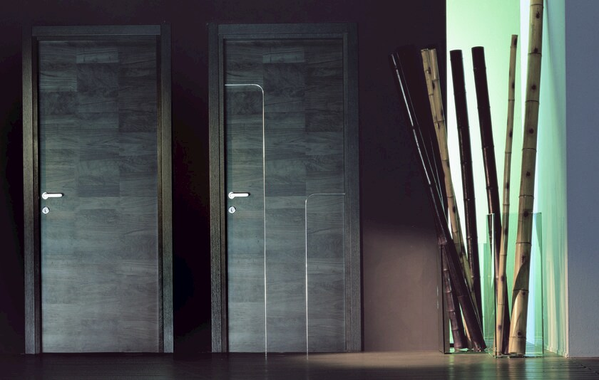 Hinged wooden door URBAN by Ghizzi & Benatti