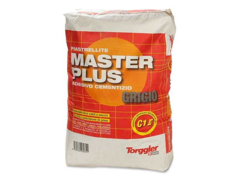Cement adhesive for flooring PIASTRELLITE MASTER PLUS by Torggler Chimica