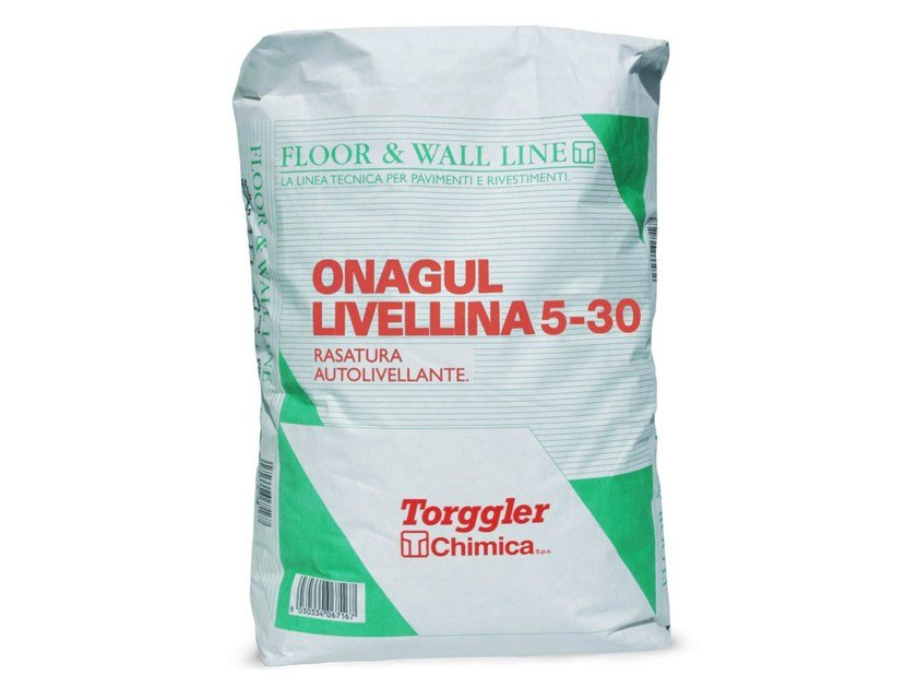 Self-levelling screed ONAGUL LIVELLINA 5-30 by Torggler Chimica