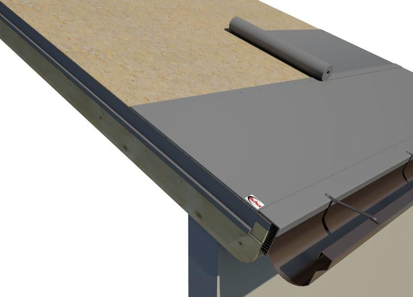 AIREK LAMBDA | Sistema per tetto ventilato SISTEMA DI POSA: STESURA DELLA GUAINA BITUMINOSA AL DI SOPRA DEI PANNELLI