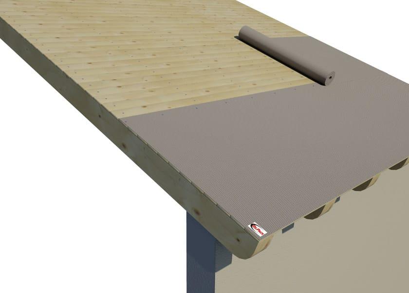 AIREK LAMBDA | Sistema per tetto ventilato SISTEMA DI POSA: STESURA DEL FRENO AL VAPORE SUL TETTO IN LEGNO O CEMENTO