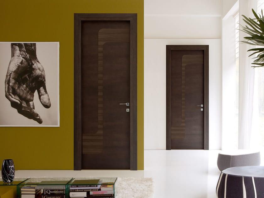 Hinged wooden door STREAM by Ghizzi & Benatti