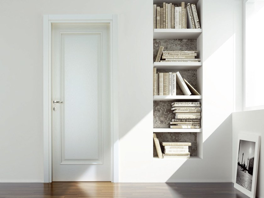 Hinged wooden door IDEAL by Ghizzi & Benatti