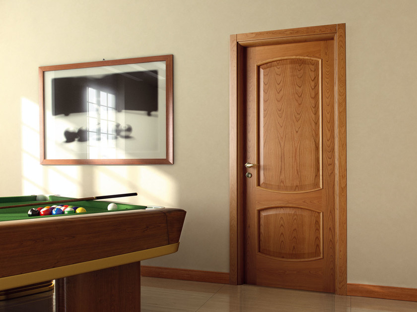 Hinged wooden door Roma by Ghizzi & Benatti