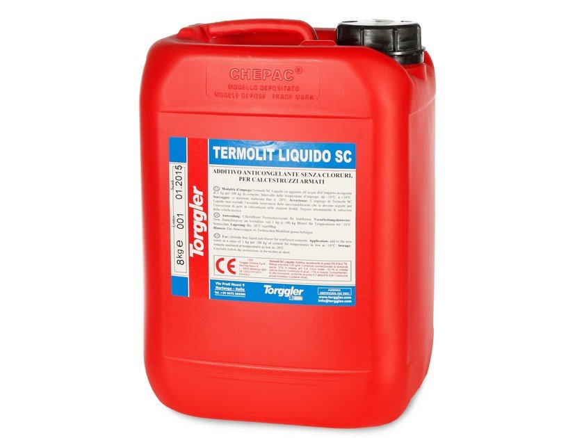 Additive for cement and concrete TERMOLIT SC LIQUIDO by Torggler Chimica