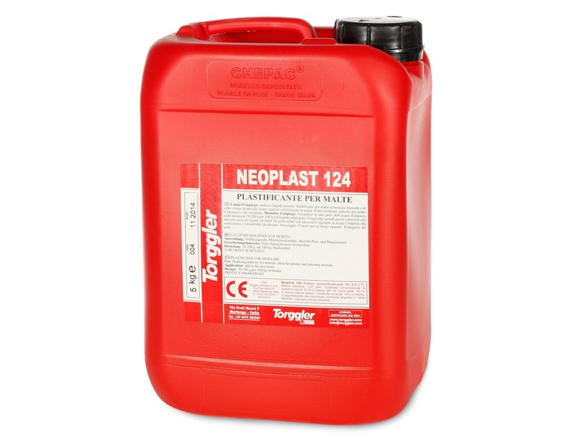 Additive for cement and concrete NEOPLAST 124 by Torggler Chimica
