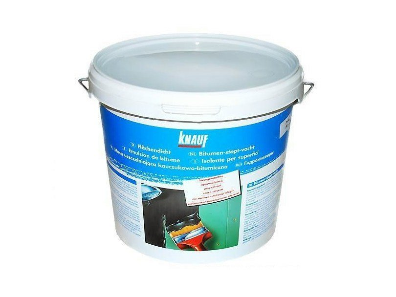Additive and resin for waterproofing FLÄCHENDICHT by Knauf Italia
