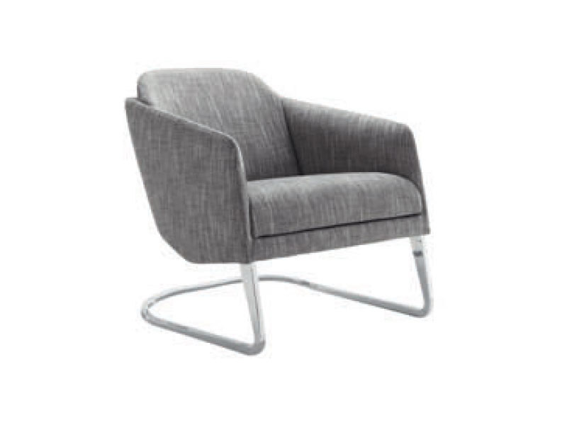 Cantilever armchair with armrests LOU by Ligne Roset