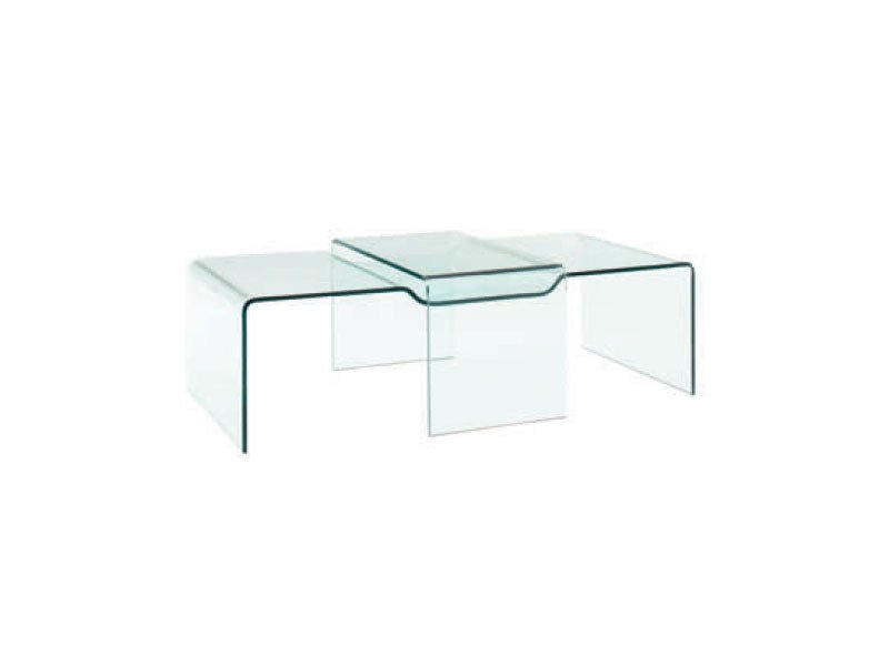 Low glass coffee table BROOKLYN by Ligne Roset