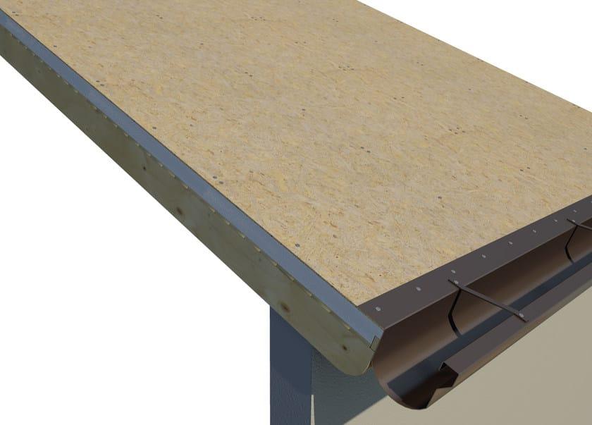 AIREK GESSO PANNELLO AUTOPORTANTE | Sistema per tetto ventilato SISTEMA DI POSA: INSTALLAZIONE DELLA GRONDAIA