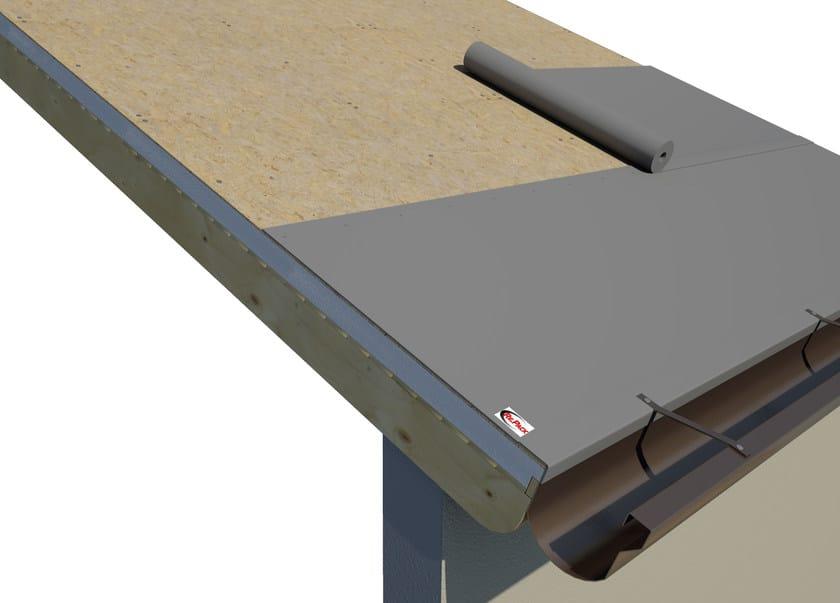 AIREK GESSO PANNELLO AUTOPORTANTE | Sistema per tetto ventilato SISTEMA DI POSA: STESURA DELLA GUAINA BITUMINOSA AL DI SOPRA DEI PANNELLI