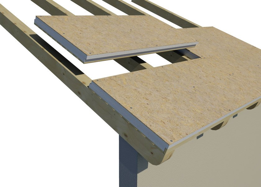 AIREK GESSO PANNELLO AUTOPORTANTE | Sistema per tetto ventilato SISTEMA DI POSA: POSA E FISSAGGIO DEI PANNELLI AIREK GESSO SULLE TRAVI IN LEGNO