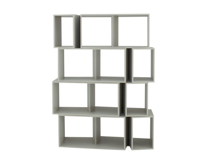 Open sectional modular bookcase CUTS by Ligne Roset