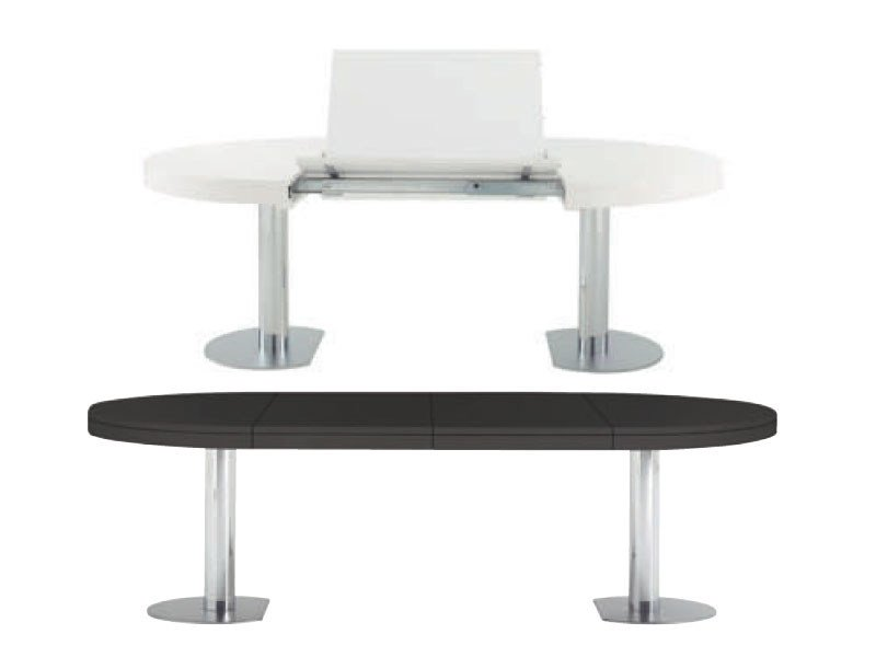 Extending dining table CRAFT 1 by Ligne Roset
