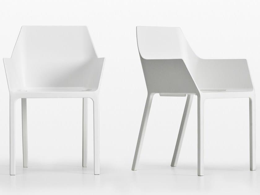 Stackable polypropylene chair MEM by Kristalia