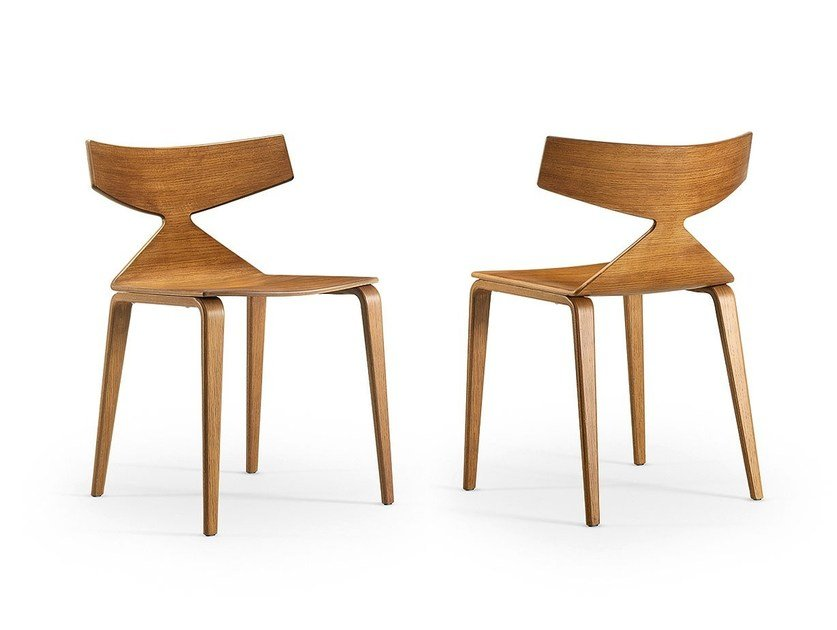 Wooden chair SAYA | Wooden chair by arper
