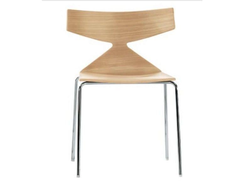 Sedie Legno E Acciaio.Saya Sedia In Acciaio E Legno By Arper Design Lievore