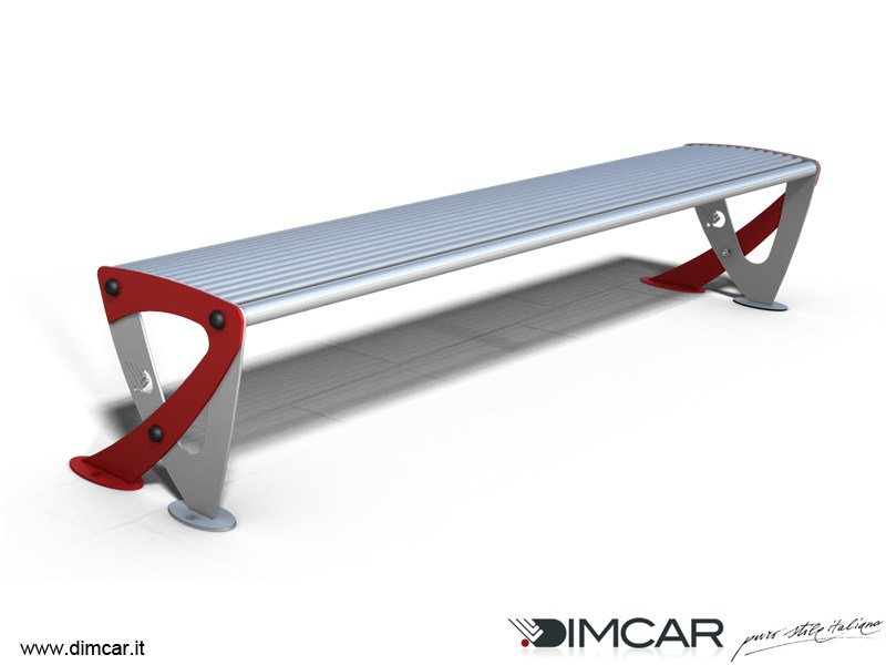 Contemporary style backless metal Bench Panca Teulada by DIMCAR