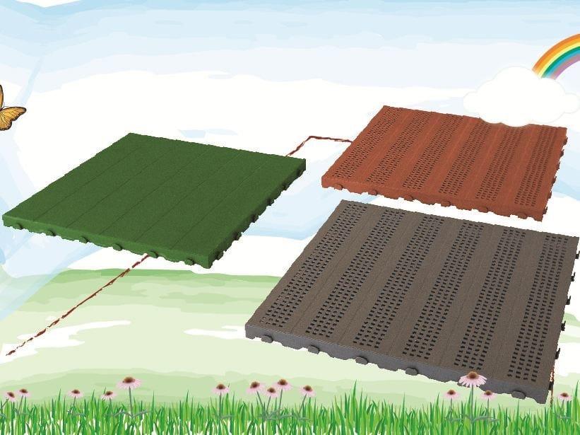 Pavimento per esterni in plastica piastrella by onek