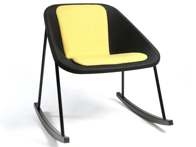 Rocking polyester easy chair KOLA | Rocking easy chair by Inno