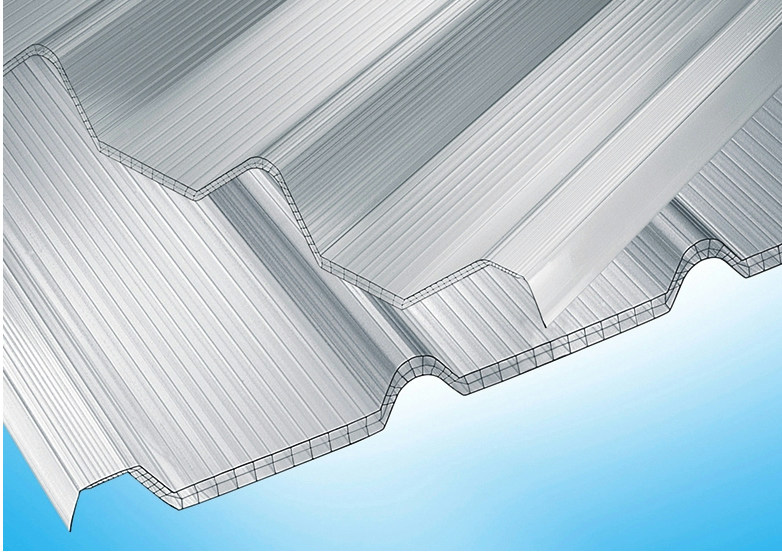 Polycarbonate sheet AKRALUX Greca By AKRAPLAST SISTEMI