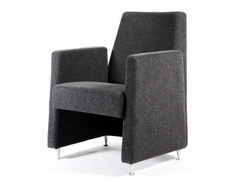 Upholstered easy chair with armrests LOBBY by Inno