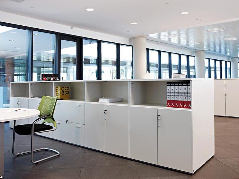 Modular office storage unit with lock Modular office storage unit by ACTIU