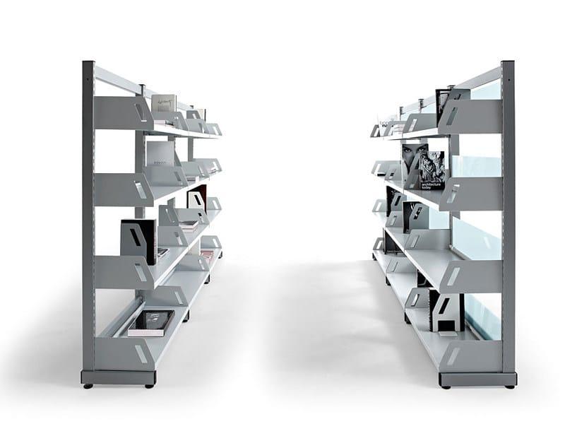 Libreria Ufficio Acciaio : Libreria ufficio modulare in acciaio level actiu