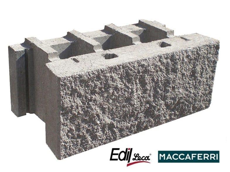 Concrete load-bearing block MACWALL® by Edil Leca Infrastrutture