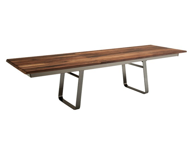 Extending rectangular solid wood table NOX | Extending table by TEAM 7