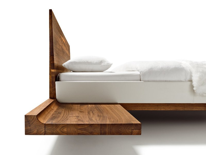 Wall-mounted solid wood bedside table RILETTO   Bedside table by TEAM 7