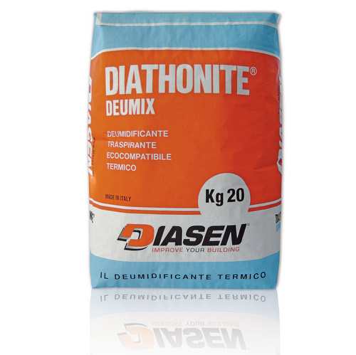 Renovating and de-humidifying additive and plaster DIATHONITE DEUMIX by DIASEN